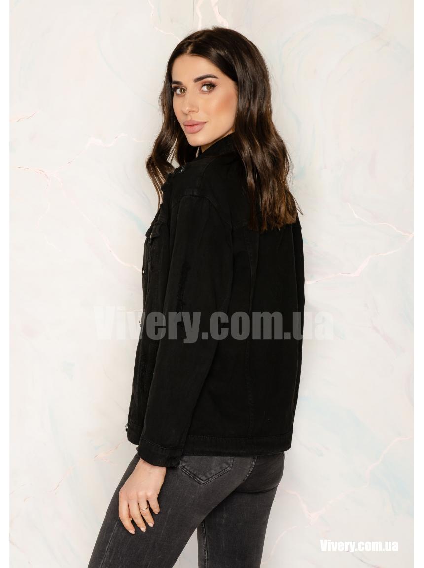 Черная джинсовая куртка