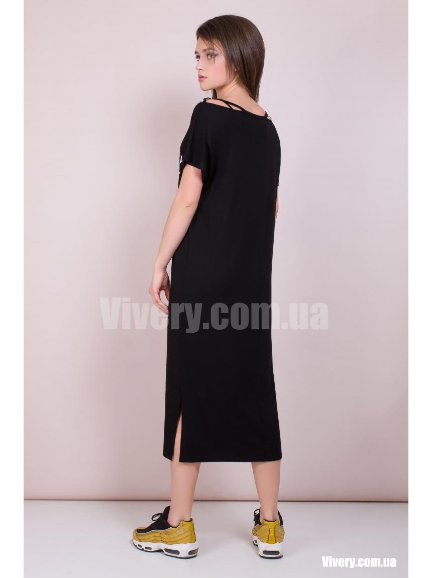 Чёрное платье Oversize