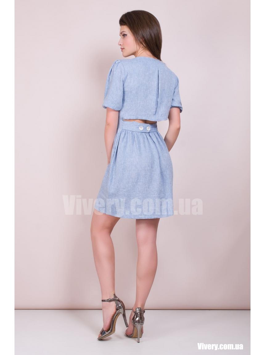 Льняное летнее платье