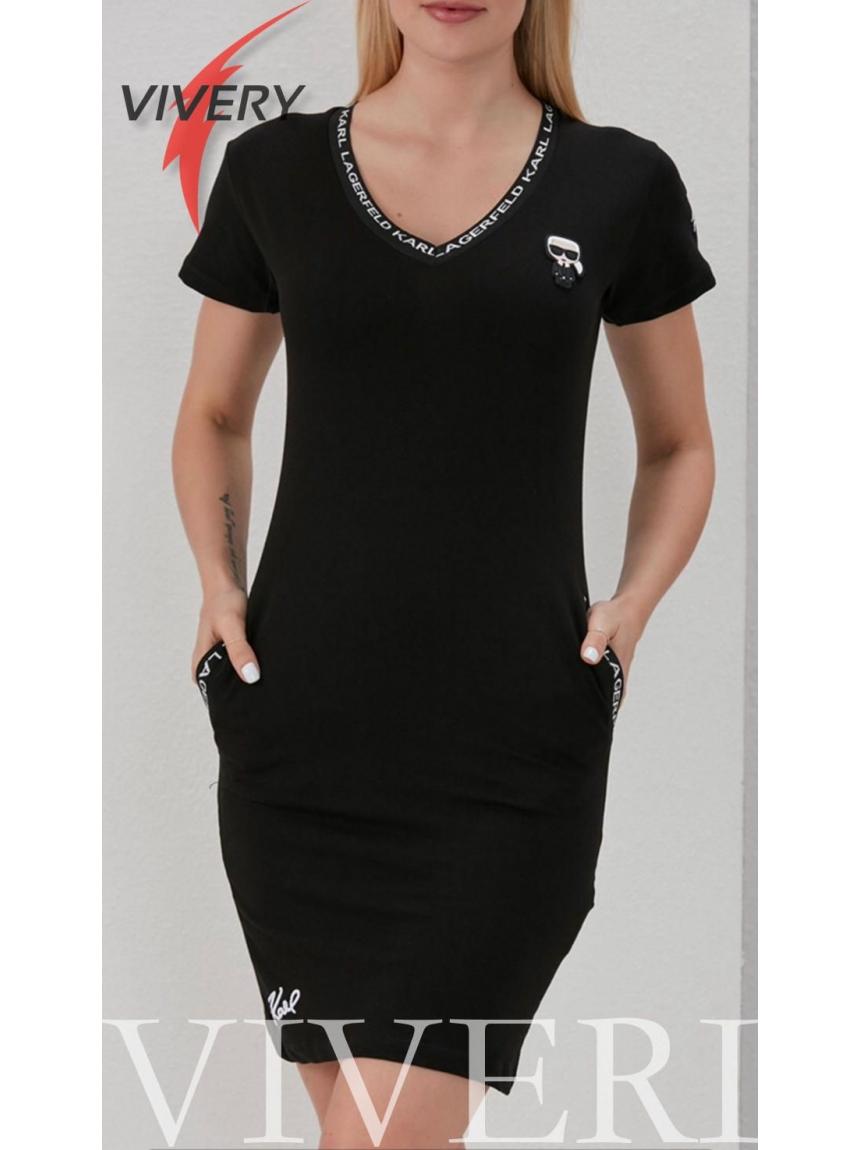 Платье Karl Lagerfeld черное